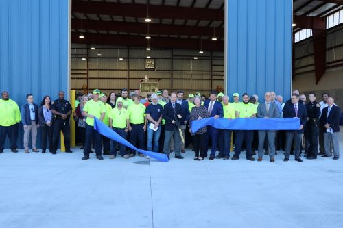 County Officials Cut Ribbon On New Solid Waste Management Transfer Station
