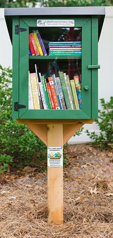 """Town of Lexington's Caractor Park Receives """"Little Free Library"""""""