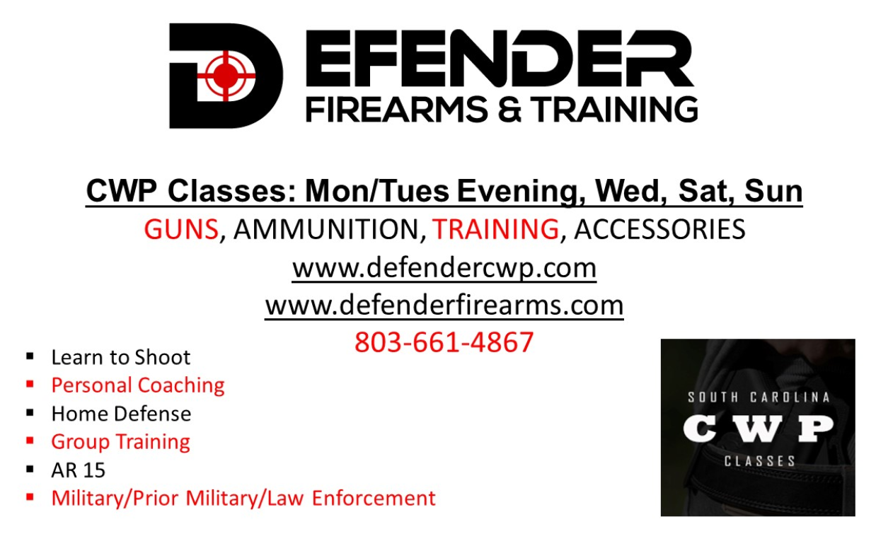 """Defender CWP, a """"one stop shop"""" when it comes to firearms, training and accessories"""